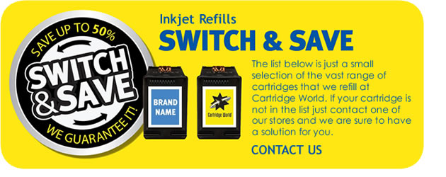 Cartridge World Ink and Toner Refills - Switch and Save